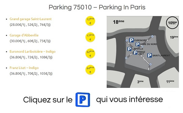 parking public paris 10