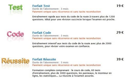 test gratuit code de la route