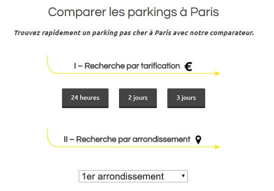 parking paris moins cher