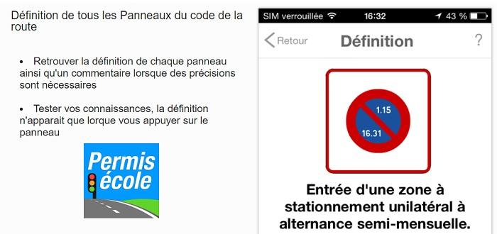 appli code de la route mobile