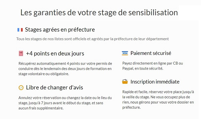 stage de récupération de points Marseille